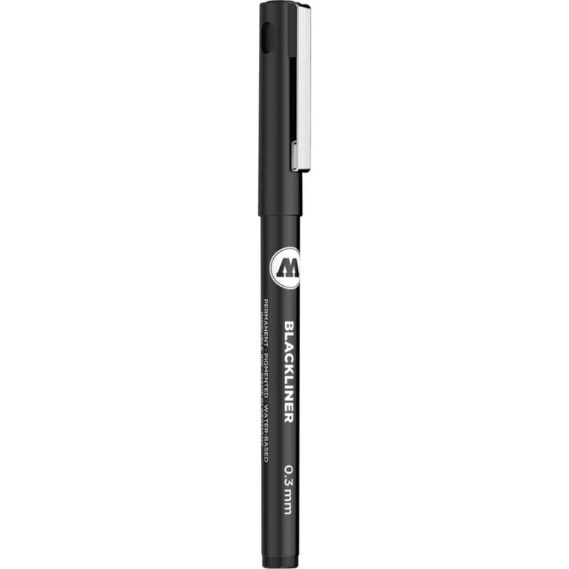 mighty-games-Blackliner - MOLOTOW - noir - 0,3mm - .9 cm
