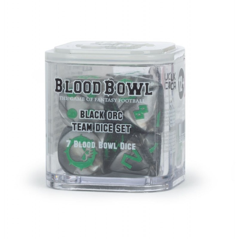 mighty-games-Black Orc Team Dice Set
