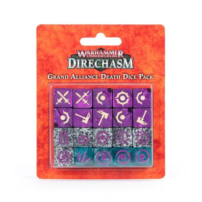 mighty-games-Warhammer Underworlds: Direchasm – Grand Alliance Death Dice Pack